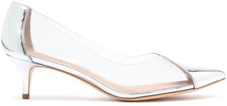 Schutz Pvc And Mirrored-leather Pumps