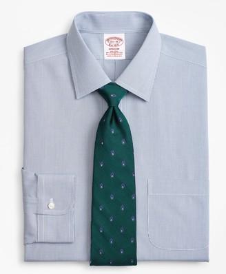 Brooks Brothers Stretch Madison Classic-Fit Dress Shirt, Non-Iron Micro-Windowpane