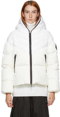 Moncler White Down Guenioc Coat