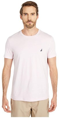 Nautica Short Sleeve Solid Crew Neck T-Shirt (Cradle Pink) Men's T Shirt