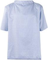Comme des Garcons striped shortsleeved shirt - men - Cotton - XS