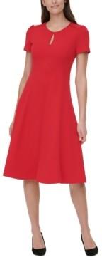 Tommy Hilfiger Keyhole Fit & Flare Dress