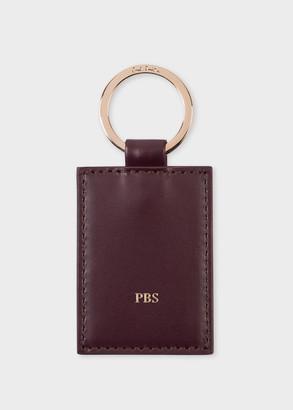 Paul Smith Damson Calf Leather Monogrammed Keyring