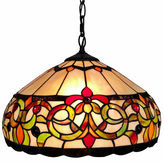 AMORA Amora Lighting AM080HL16 Tiffany Style Floral Hanging Lamp 16 Inches