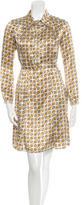 Burberry Silk Buckle Print Dress