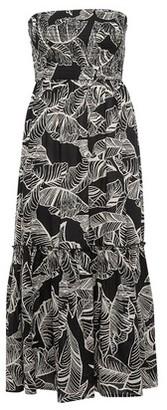 Dorothy Perkins Womens *Dp Beach Monochrome Leaf Print Bandeau Tier Dress