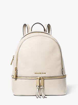 MICHAEL Michael Kors MK Rhea Medium Leather Backpack - Light Sand - Michael Kors