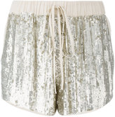 P.A.R.O.S.H. drawstring sequin shorts - women - Viscose/PVC - XS