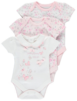 George 3 Pack Assorted Bodysuits