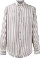 Loro Piana Alain striped shirt - men - Silk - XL