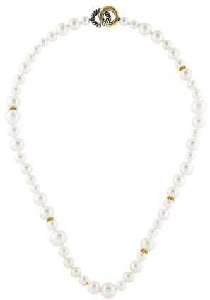 David Yurman Two-Tone Pearl Necklace
