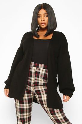 boohoo Plus Bell Sleeve Knitted Cardigan