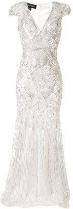Jenny Packham Embroidered Maxi Dress