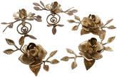One Kings Lane Vintage Floral Brass Candleholders