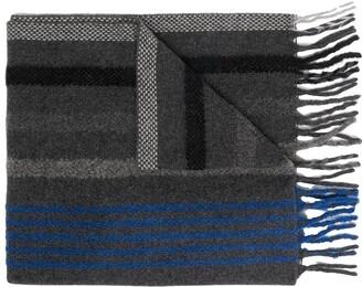 Paul Smith Stripe Fringe Scarf