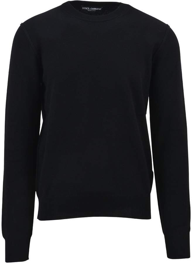 Dolce & Gabbana Black Cashmere Sweater