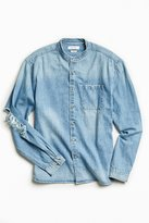 Urban Outfitters Damaged Denim Button-Down Shirt