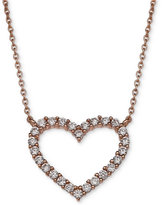 Giani Bernini Cubic Zirconia Heart Pendant Necklace in 18k Rose Gold-Plated Sterling Silver, Only at Macy's