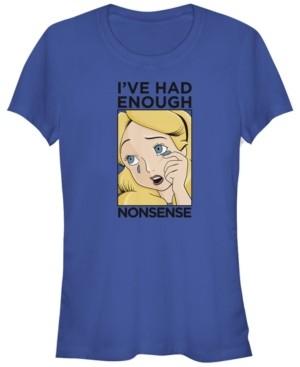 Fifth Sun Women's Alice in Wonderland Alice Lichtenstein Short Sleeve T-shirt