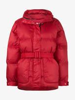 Ienki Ienki Red Michelin belted puffer jacket