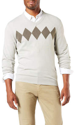 Dockers Soft Acrylic V Neck Long Sleeve Pullover Sweater