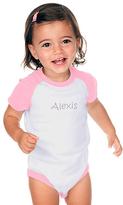 Princess Linens Pink & White Personalized Bodysuit - Infant
