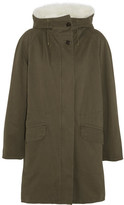 Yves Salomon Shearling-lined Twill Parka - Army green