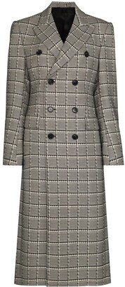 Wardrobe NYC x Browns 50 double-breasted checked coat