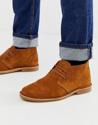 Jack and Jones suede desert boots in tan