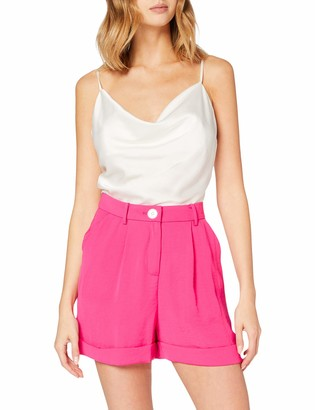 Miss Selfridge Women's Hot Pink Button Shorts 10