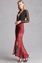 Forever 21 FOREVER 21+ Crochet Side-Slit Maxi Skirt