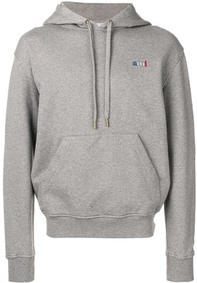 Ami crew neck Hoodie With Red Blue White Red Embroidery
