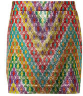 Missoni Printed Silk-blend Lamé Mini Skirt - Yellow