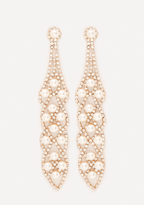 Bebe Drop Statement Earrings