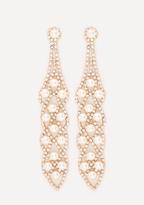 Bebe Drop Statement Earrings