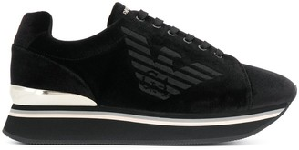Emporio Armani Logo Lace-Up Sneakers