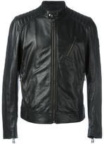 Belstaff zipped leather jacket - men - Leather/Viscose - 46