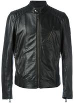 Belstaff zipped leather jacket - men - Leather/Viscose - 48