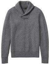 Banana Republic Merino-blend Basketweave Shawl Sweater
