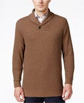 Tasso Elba Men's Honeycomb Textured Shawl-Collar Pullover, Only at Macy's