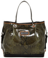 Longchamp Reptile Embossed Small Leather Tote