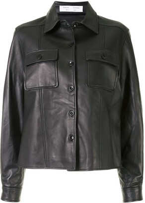Proenza Schouler White Label Button-Up Leather Jacket