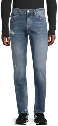 True Religion Geno Relaxed Slim Distressed Jeans