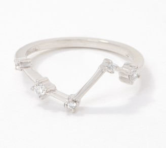 Diamonique Choice of Constellation Ring, Sterling Silver