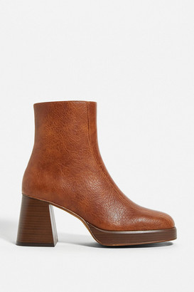 Urban Outfitters Velo Brown Heeled Boot