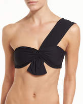 Marysia Swim Venice One-Shoulder Swim Top, Black