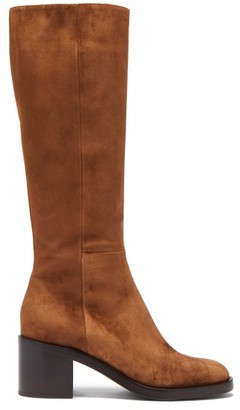 Gianvito Rossi Ellington 60 Zipped Suede Knee-high Boots - Brown