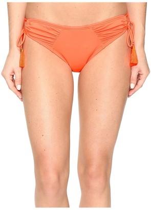 Vince Camuto Women's Shirred Side Tie Bikini Bottom Swimsuit