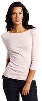 Three Dots Women's 3/4 Slv British Tee Cotton Knits