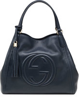 Gucci Soho Leather Shoulder Bag, Dark Blue